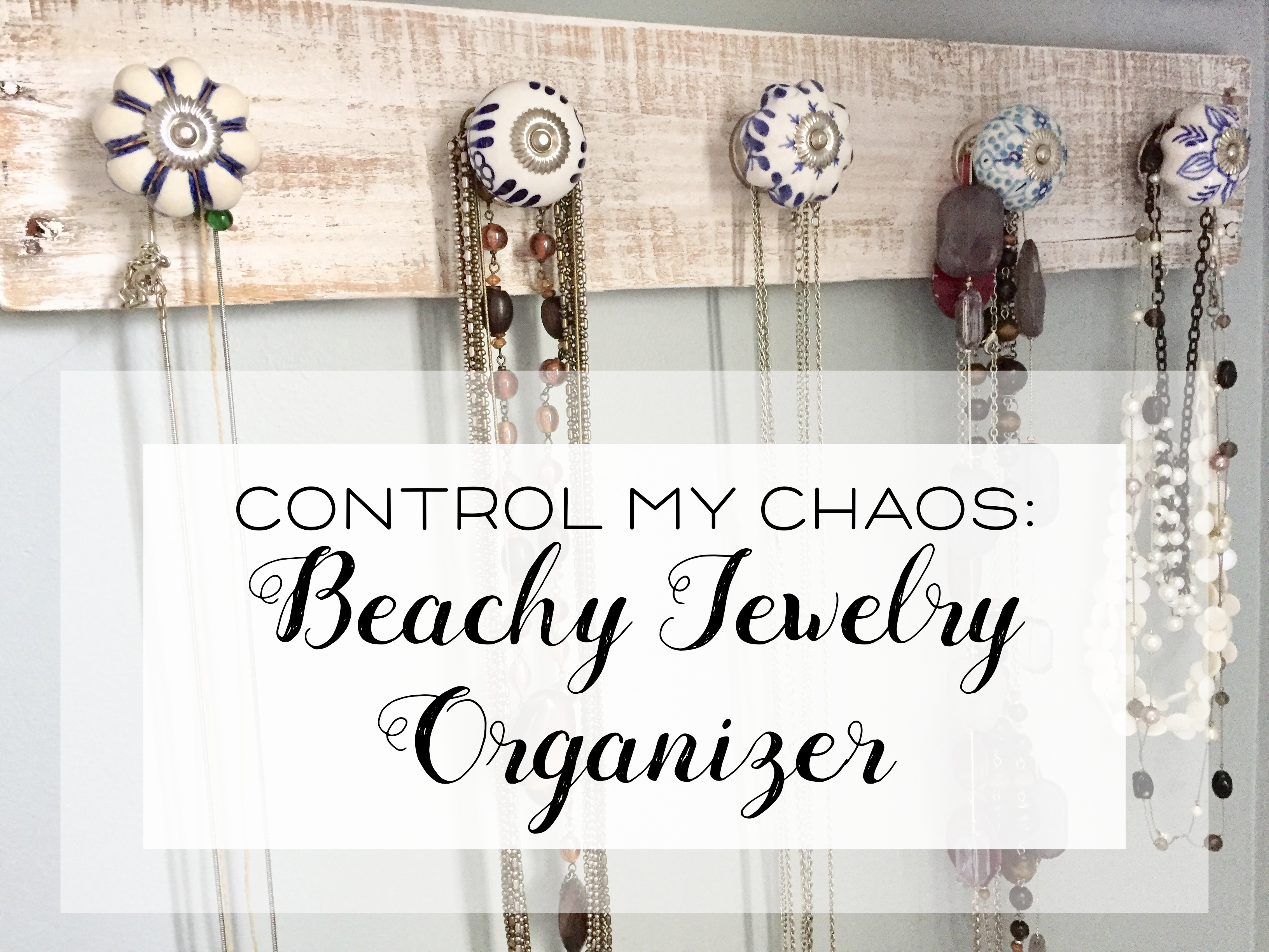 beachy jewelry organizer