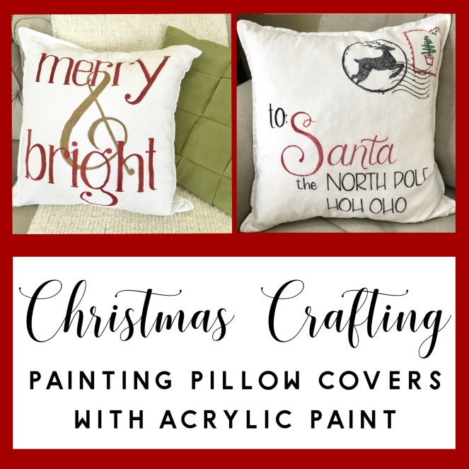 christmas crafting- pillow covers